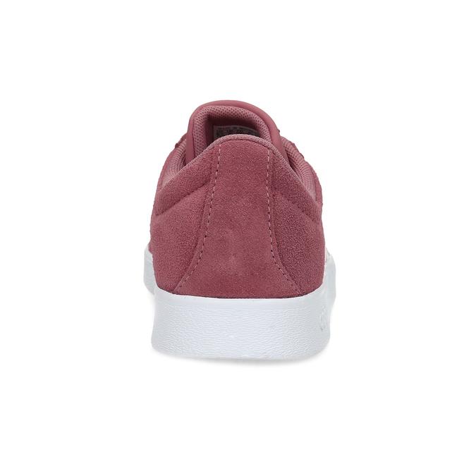 Dámské fialové kožené tenisky adidas, červená, 503-5379 - 15