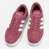 Dámské fialové kožené tenisky adidas, červená, 503-5379 - 16