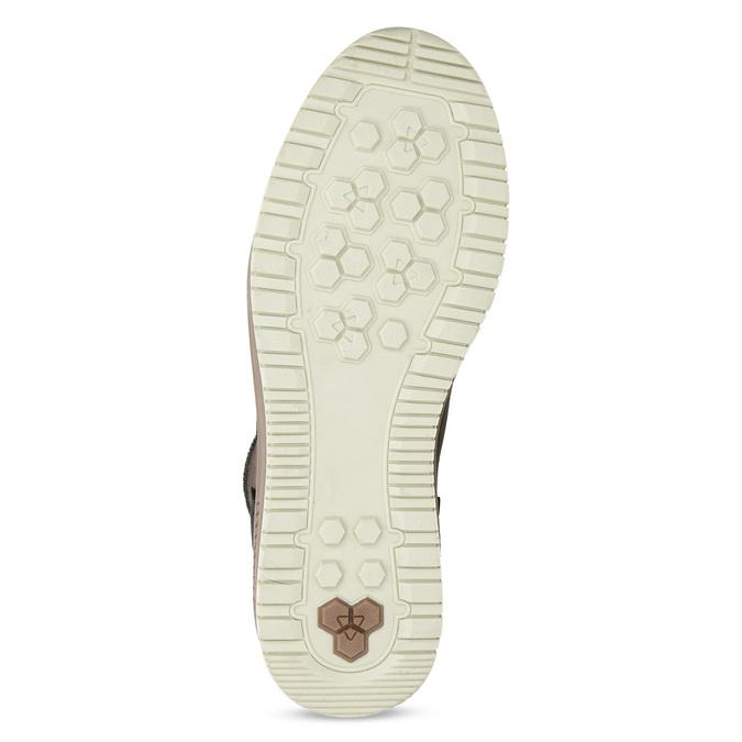 Kotníková kožená pánská zimní obuv bata, hnědá, 896-3712 - 18