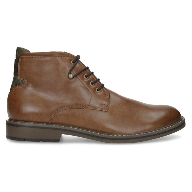 Hnědá kotníčková obuv pánská s pružením bata-red-label, hnědá, 821-3610 - 19