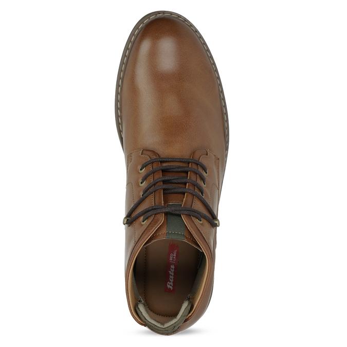 Hnědá kotníčková obuv pánská s pružením bata-red-label, hnědá, 821-3610 - 17