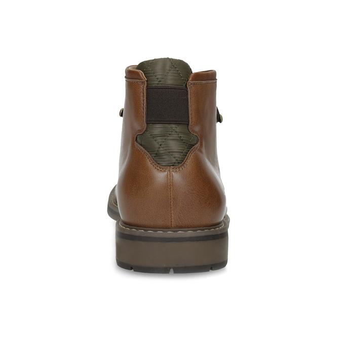 Hnědá kotníčková obuv pánská s pružením bata-red-label, hnědá, 821-3610 - 15