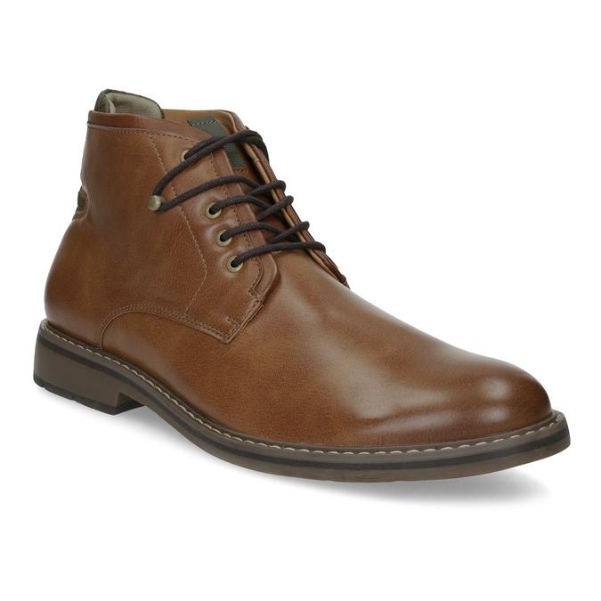 Hnědá kotníčková obuv pánská s pružením bata-red-label, hnědá, 821-3610 - 13