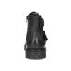 Kožená pánská kotníčková obuv s přezkami bata, černá, 896-6715 - 15