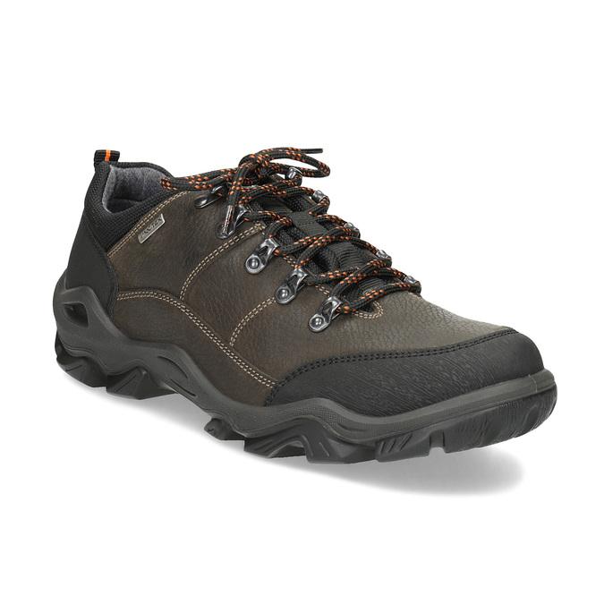 Pánská kožená obuv s masivní podešví weinbrenner, hnědá, 846-4806 - 13