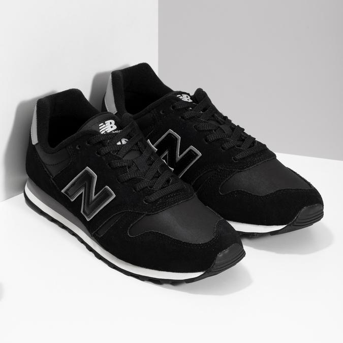 Černé pánské tenisky z broušené kůže new-balance, černá, 803-6137 - 26