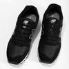 Černé pánské tenisky z broušené kůže new-balance, černá, 803-6137 - 16