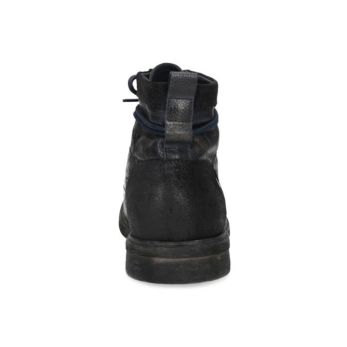 Pánská kožená kotníčková obuv bata, modrá, 896-9717 - 15