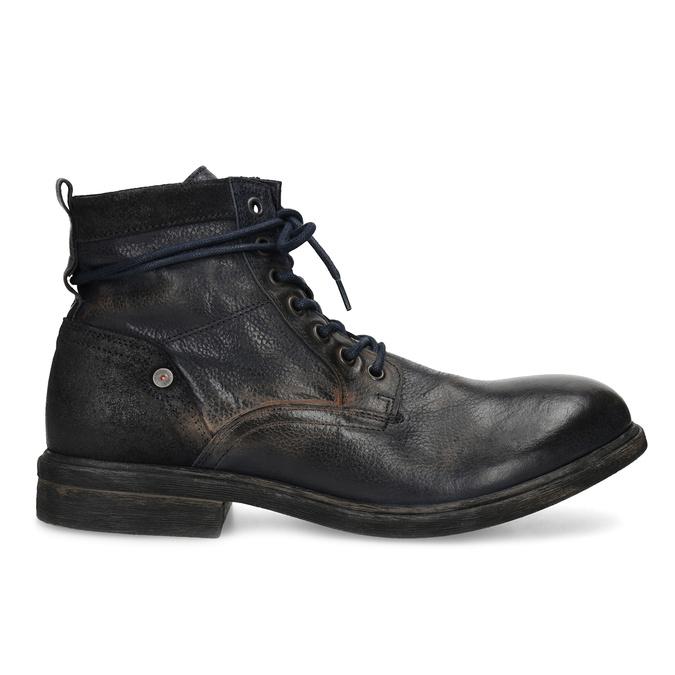 Pánská kožená kotníčková obuv bata, modrá, 896-9717 - 19