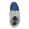 Originální kožená dámská kotníčková obuv s potiskem, modrá, 596-9760 - 17
