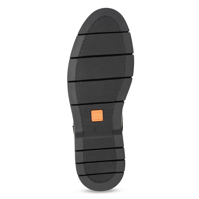 Pánské kožené Chelsea Boots černé flexible, černá, 894-6714 - 18