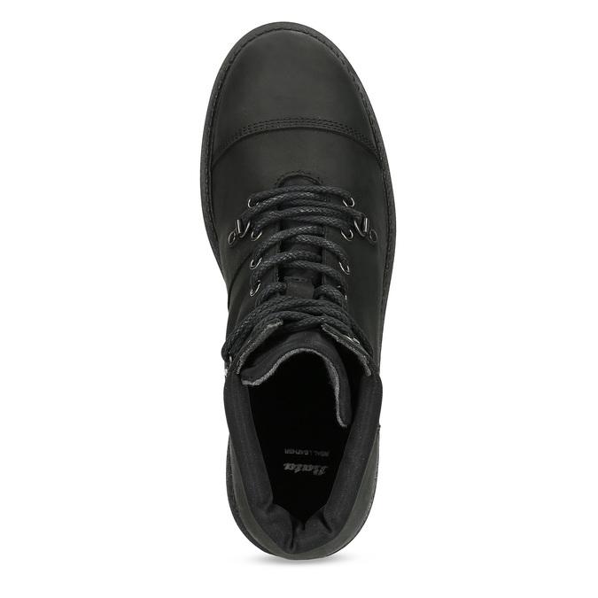 Kožená pánská kotníková obuv bata, černá, 896-6740 - 17