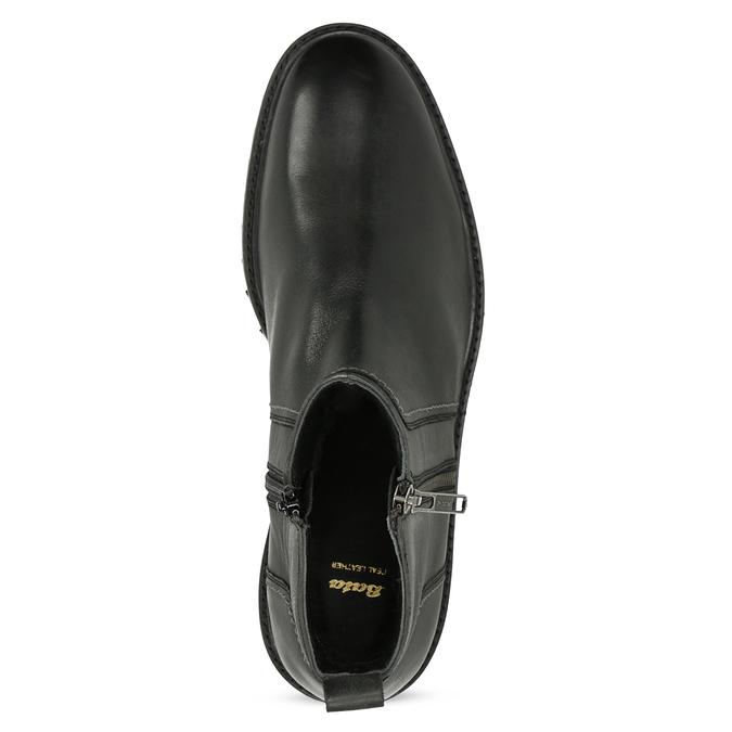 Zimní pánská kotníčková obuv černá bata, černá, 896-6724 - 17