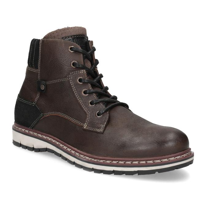 Kotníčková kožená pánská obuv bata, hnědá, 896-4666 - 13