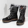 Dámská černá zimní obuv s kožíškem weinbrenner, černá, 596-6755 - 16