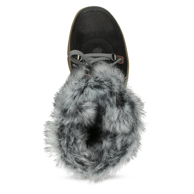 Dámská černá zimní obuv s kožíškem weinbrenner, černá, 596-6755 - 17