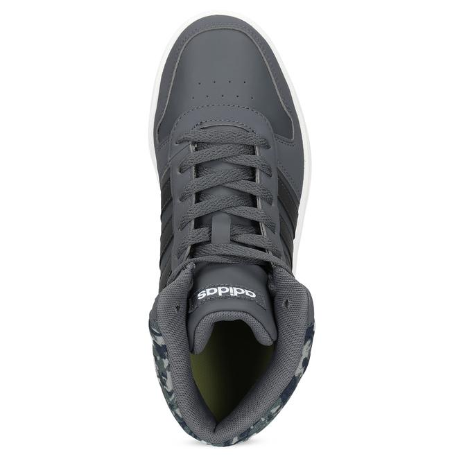 Šedé kotníčkové dětské tenisky adidas, šedá, 401-2395 - 17