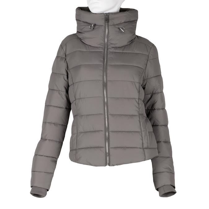 Dámská prošívaná bunda s límcem šedá bata, béžová, 979-8344 - 13