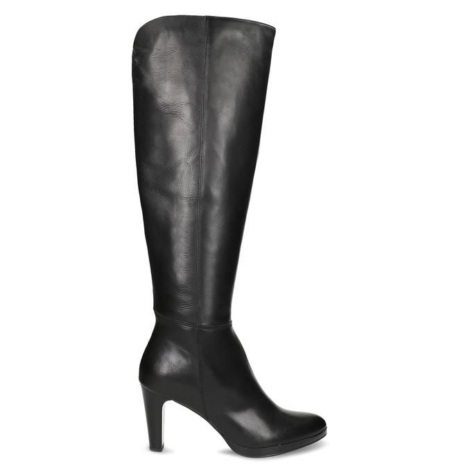 Kožené kozačky na podpatku černé bata, černá, 794-6657 - 19