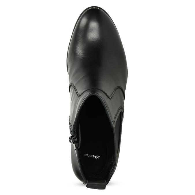 Kožené Chelsea na podpatku bata, černá, 794-6659 - 17