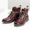 Kožená dámská kotníčková obuv se zateplením bata, červená, 596-5702 - 16