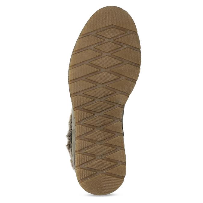 Dámská kožená zimní obuv s kožíškem bata, hnědá, 596-8704 - 18