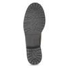Dámská kožená kotníčková obuv s kožíškem bata, hnědá, 694-4669 - 18