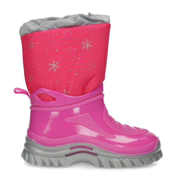 Růžové sněhule s vločkami mini-b, růžová, 292-5301 - 19