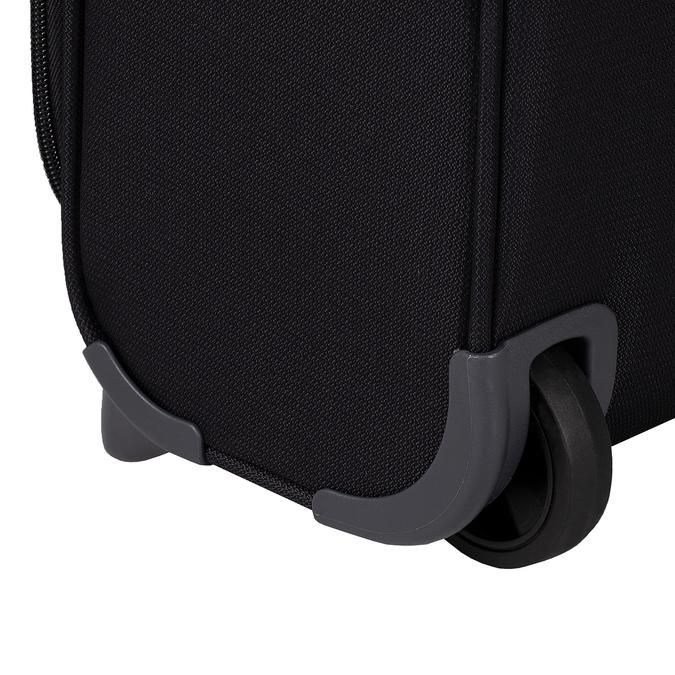 Černý textilní kufr na kolečkách samsonite, černá, 969-6618 - 16