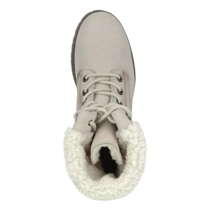 Kožená zimní obuv s kožíškem weinbrenner, béžová, 696-3336 - 17