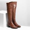 Kožené kozačky nad koleno hnědé bata, hnědá, 694-4666 - 26
