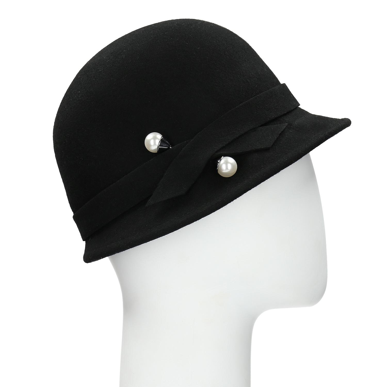 Baťa Černý dámský klobouk s perličkami - Čepice a klobouky  81fe9ccc5f