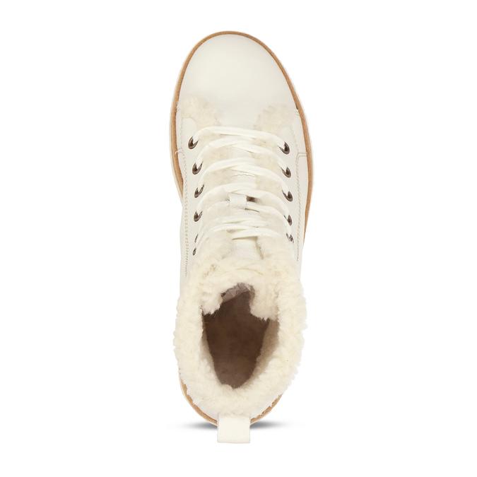Bílá dámská kožená kotníčková obuv weinbrenner, bílá, 596-1754 - 17