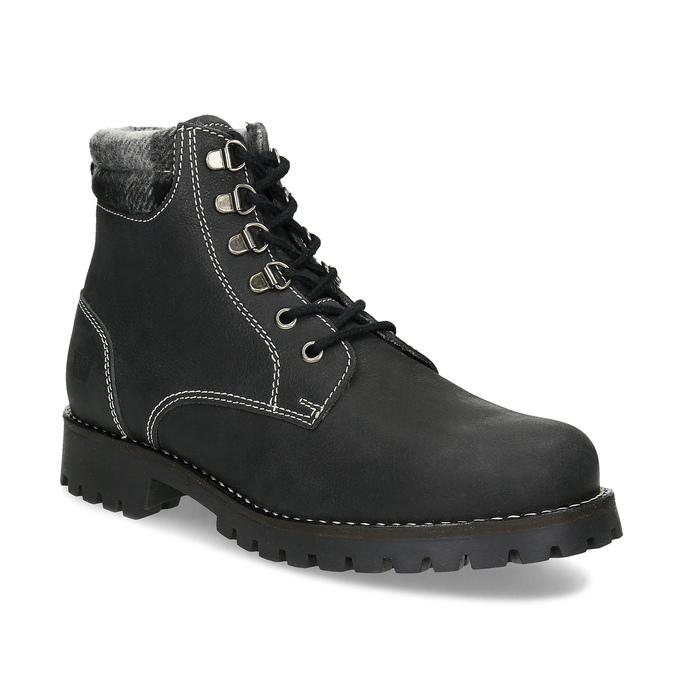 Černá dámská kožená kotníčková obuv weinbrenner, černá, 596-6729 - 13