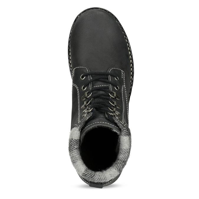 Černá dámská kožená kotníčková obuv weinbrenner, černá, 596-6729 - 17