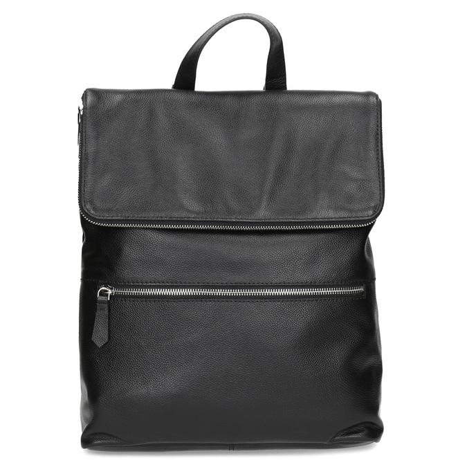 Kožený černý batůžek bata, černá, 964-6607 - 26