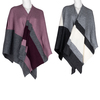 Dámské textilní pončo bata, vícebarevné, 909-0647 - 13
