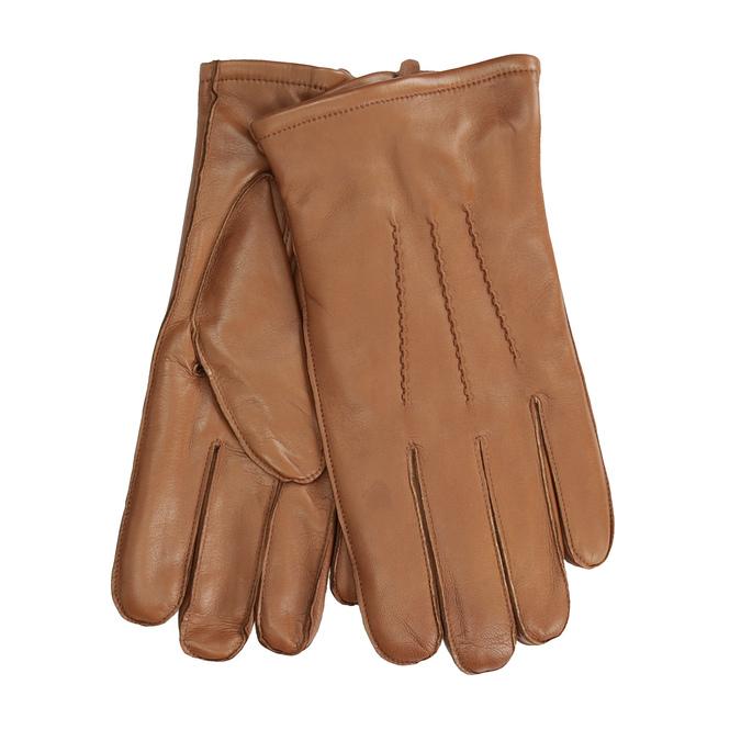 762a91804c0 Baťa Pánské kožené rukavice světle hnědé - Pánské