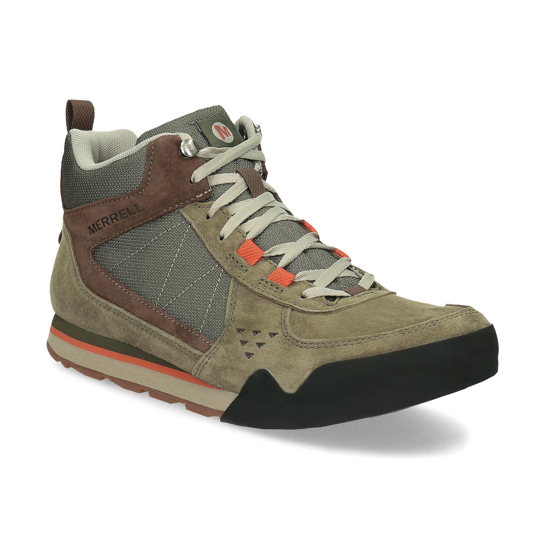Merrell Pánská khaki kožená outdoorová obuv - Neformální  983828cecc