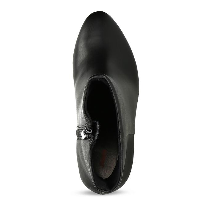 Černé kotníčkové kozačky na stabilním podpatku bata-b-flex, černá, 791-6615 - 17