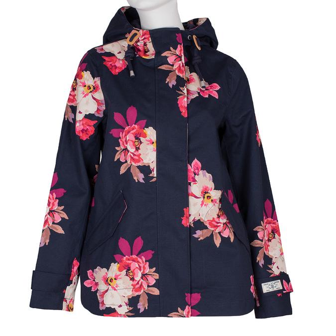 Modrá dámská bunda s květinovým vzorem joules, modrá, 979-9022 - 13