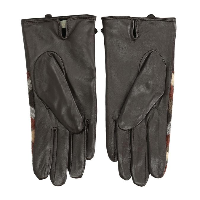 Dámské kožené rukavice kárované hnědé bata, hnědá, 904-4138 - 16