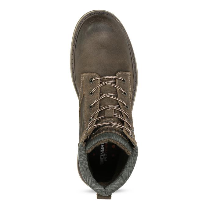 Hnědá kožená pánská zimní obuv weinbrenner, hnědá, 896-4693 - 17