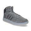 Pánské kotníčkové tenisky kožené šedé adidas, šedá, 803-2118 - 13