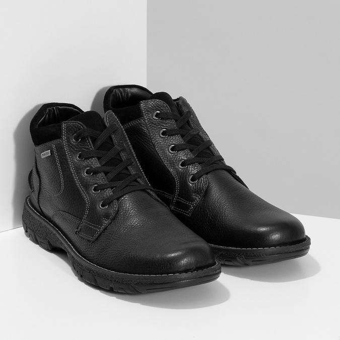 Pánské kožené zimní boty bata, černá, 894-6715 - 26