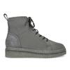 Kotníčková dámská kožená zimní obuv bata, šedá, 596-2713 - 19