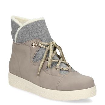 Kotníčková dámská zimní obuv bata-red-label, béžová, 591-6637 - 13