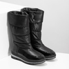 Dámská černá zimní obuv  s výraznou podešví bata, černá, 599-6622 - 26