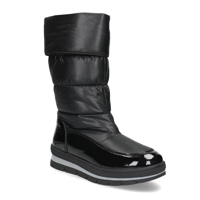 Dámská černá zimní obuv  s výraznou podešví bata, černá, 599-6622 - 13