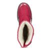 Červené dámské sněhule s černou podešví bata, červená, 599-5625 - 17